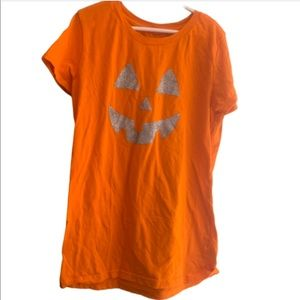 5/$20 large Halloween Pumpkin Face TShirt Orange